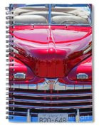 Shiny Red Ford Convertible. Spiral Notebook