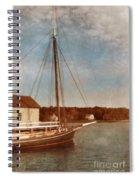 Ship At Dock Spiral Notebook