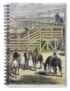 Shipping Cattle, 1877 Spiral Notebook
