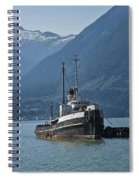 Shipping Freighter In Squamish British Columbia No.0187 Spiral Notebook