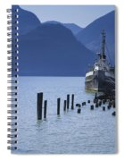 Shipping Freighter In Squamish British Columbia No.0201 Spiral Notebook