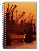 Shipping Freighters At Sunset Spiral Notebook