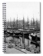 Ships In Harbour 1900 Spiral Notebook