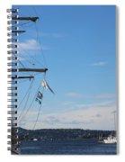 Ships In Oslo Harbor Spiral Notebook