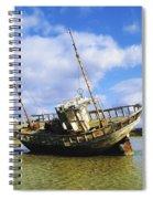 Shipwrecks, Bunbeg, Co Donegal Spiral Notebook