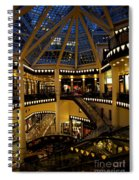 Shopping Mall In The Evening Spiral Notebook
