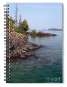 Shore Of Isle Royale Spiral Notebook