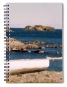 Shoreline Boat Spiral Notebook