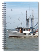 Shrimp Boat And Gulls Spiral Notebook