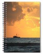 Shrimp Boat Sunrise Spiral Notebook