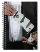 Shuffling Cards Spiral Notebook