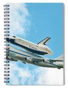 Shuttle Enterprise Comes To Ny Spiral Notebook