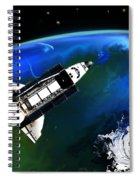 Shuttle On Orbit Spiral Notebook