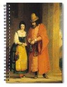 Shylock And Jessica From 'the Merchant Of Venice' Spiral Notebook
