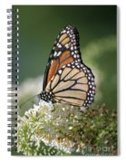 Side Profile Of A Monarch Spiral Notebook