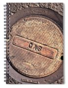 Sidewalk Gas Cover Spiral Notebook