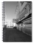 Sidewalks Of Gum In Black And White Spiral Notebook