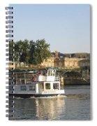 Sightseeing Boat On River Seine. Paris Spiral Notebook