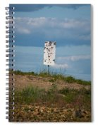 Sign At The Gulf Of Bothnia Spiral Notebook