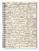 Signatures Attached To The American Declaration Of Independence Of 1776 Spiral Notebook