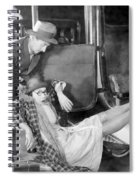 Silent Film Still: Accidents Spiral Notebook