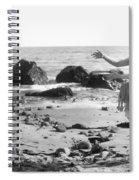 Silent Film Still: Beach Spiral Notebook