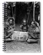 Silent Film Still: Natives Spiral Notebook