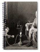 Silent Film Still: Smoking Spiral Notebook