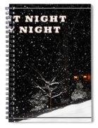 Silent Night Card Spiral Notebook