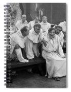 Silent Still: Group Of Men Spiral Notebook