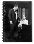 Silent Still: Two Men Spiral Notebook