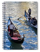 Silently Drifting Gondolas Spiral Notebook