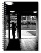 Silhouette Of A Man Spiral Notebook