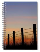 Silhouette Of Barbed Wire Fence Spiral Notebook