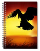 Silhouette Of Eagle Spiral Notebook