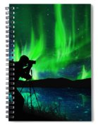 Silhouette Of Photographer Shooting Stars Spiral Notebook