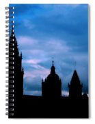 Silhouette Of Spanish Church Spiral Notebook
