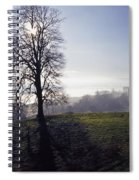 Silhouette Of Tree Spiral Notebook