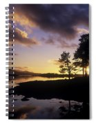 Silhouette Of Trees On The Riverbank Spiral Notebook