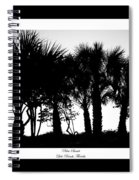 Silhouette Palm Sunset Spiral Notebook
