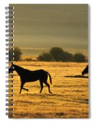 Silhouetted Horses Running Spiral Notebook