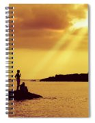Silhouettes On The Beach Spiral Notebook