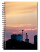 Silos At Dusk Spiral Notebook