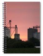 Silos At Sunset Spiral Notebook