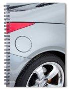 Silver 350z Nissan Spiral Notebook