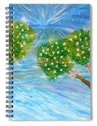 Silver Bells Spiral Notebook