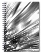 Silver Explosion Spiral Notebook