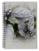 Silver Leaves And Berries Spiral Notebook