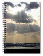 Silver Rays Spiral Notebook