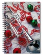 Silver Trumper And Christmas Ornaments Spiral Notebook